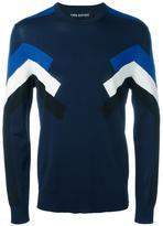 Neil Barrett geometric intarsia knitted top - men - Nylon/Viscose - S
