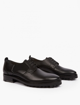 Lanvin Black Leather Derby Shoes