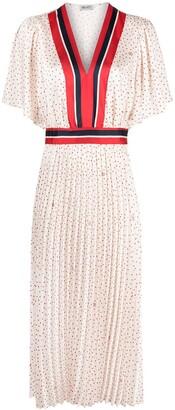 Liu Jo Polka-Dot Stripe Flared Dress