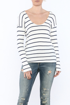 Honey Punch Knit Striped Sweater