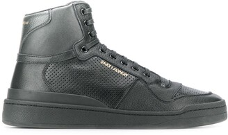 Saint Laurent Perforated High-Top Sneakers