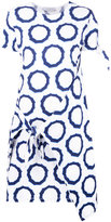 J.W.Anderson printed tie knot dress - women - Cotton - M