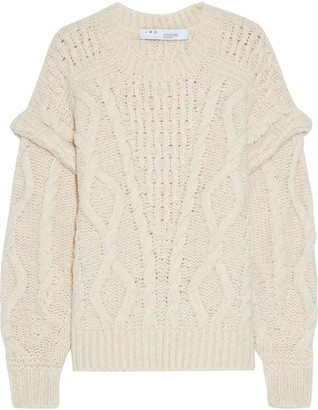 IRO Homies Brushed Cable-knit Sweater