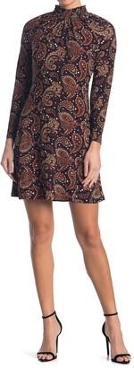 Tommy Hilfiger Long Sleeve Paisley Dress