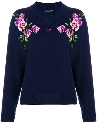 Dolce & Gabbana flower knit jumper
