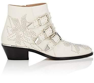 Chloé Women's Susanna Leather Ankle Boots - White