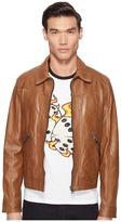 Just Cavalli Leather Jacket Men's Coat