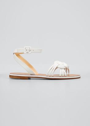 Christian Louboutin Ella Napa Red Sole Flat Sandals