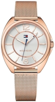 Tommy Hilfiger Rose Gold Mesh Bracelet Watch
