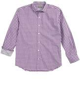 Thomas Dean Geo Check Dress Shirt (Big Boys)