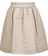 Marc by Marc Jacobs Romy Metallic Polka-Dot Jacquard Mini Skirt