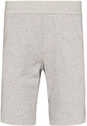Moncler Striped Cotton Track Shorts