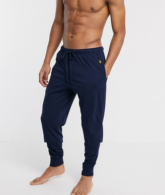Polo Ralph Lauren cotton cuffed lounge jogger with polo player logo in navy
