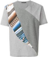 Issey Miyake colour combi jersey T-shirt