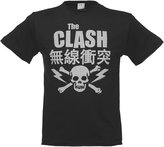 Amplified Mens Charcoal The Clash Bolt T Shirt from