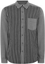 Topman Black Stripe Overshirt