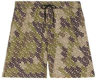 Burberry Guildes Monogram Print Swim Shorts