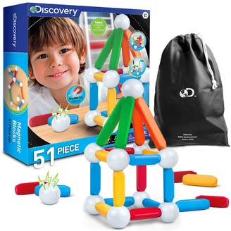 Discovery Kids Toy Magnetic Building Blocks 51-pc. Set