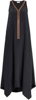 Brunello Cucinelli Monili-embellished silk dress