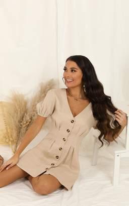 Showpo Need And More Dress In beige linen look - 6 (XS) Dresses