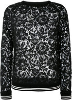 Valentino lace top - women - Cotton/Polyamide/Viscose - S