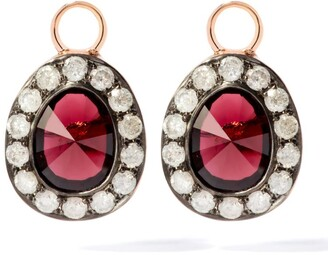 Annoushka Rose Gold Dusty Diamonds Garnet Earring Drops