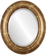 """The Oval And Round Mirror Store Somerset Framed Oval Mirror in Champagne Gold, 21""""x25"""""""
