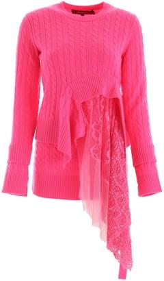 Sies Marjan Asymmetric Lace Detail Sweater