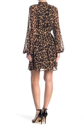A.Calin Leopard Waist Tie Dress