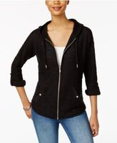 Style&Co. Style & Co Zippered Roll-Tab Hoodie, Created for Macy's