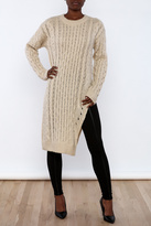 J.o.a. Long Sweater With Slit