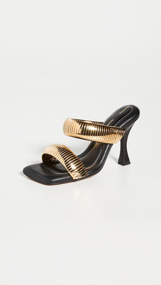Proenza Schouler Thick Chain Two Band Heeled Sandals