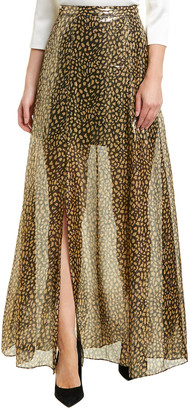 Alice + Olivia Athena Silk-Blend Maxi Skirt