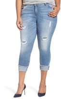 KUT from the Kloth Connie Frayed Hem Crop Skinny Jeans (Plus Size)