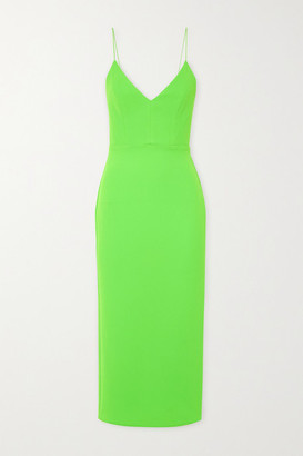 Alex Perry Drake Stretch-crepe Midi Dress - Lime green