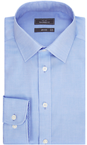 John Lewis Non Iron Twill Tailored Fit Shirt, Blue