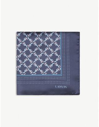 Lanvin Geometric-pattern silk pocket square