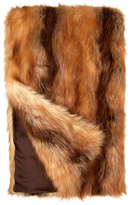 "Donna Salyers'' Fabulous-Furs Donna Salyers Fabulous Furs Limited Edition Faux Fur Throw, Red Fox, 60""x72"""