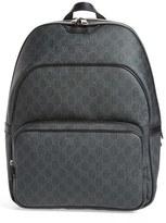 Gucci Men's Faux Leather Logo Backpack - Black
