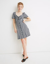 Madewell Gingham Tie-Front Swing Dress