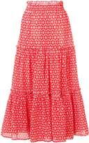 Lisa Marie Fernandez Ruffled Midi Skirt
