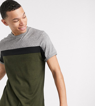 ASOS DESIGN Tall t-shirt with contrast body panels in heavyweight twisted jersey