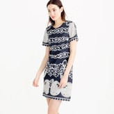 J.Crew Short-sleeve shift dress in ornate lace