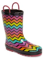 Western Chief Toddler Girl's Funny Stripe Rain Boot