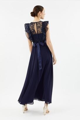 Coast Frilled Sleeve Lace Bodice Maxi Dress