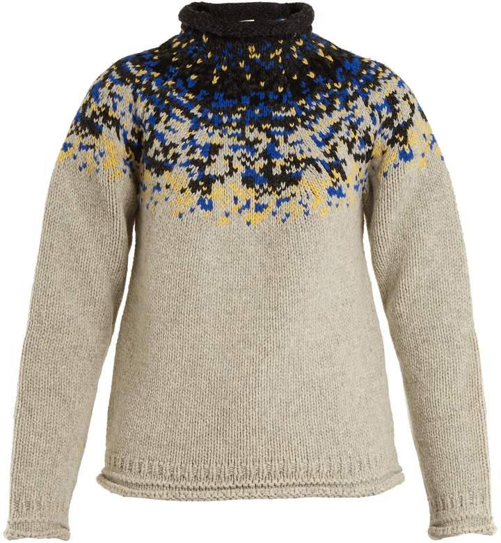 Acne Studios Sirus jacquard-yoke wool sweater