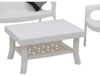 Wrought Studio Mabe Wicker Coffee Table Wrought Studio Color: White