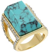 GUESS Large Faux Turquoise Stone Ring