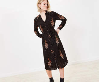 Oasis Leaf Print Shirt Dress