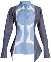 Stella McCartney Contrasting-print long-sleeved shirt